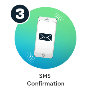 Step 3 to deposit by phone bill in Bonus Boss phone casino: SMS Confirmation